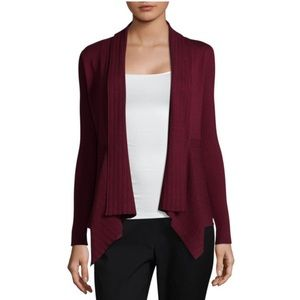 NWT Liz Claiborne Ribbed Open Front Cardigan